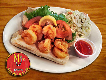 Tuesday Special: Shrimp PoBoy at MJ's Raw Bar, New Bern, Seafood and Steak Restaurant