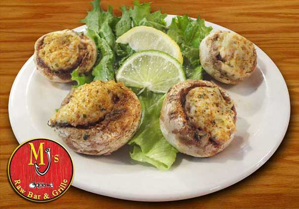 Crab Stuffed Mushrooms at MJs Raw Bar in New Bern