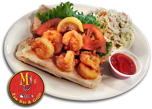 Shrimp PoBoy, MJ's Raw Bar, New Bern Seafood Restaurant