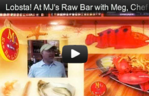 Live Maine Lobster at MJ's Raw Bar in New Bern, NC - For all the seafood lovers, WHOLE MAINE LOBSTERS are among the most fabulous choices. You pick it from MJ's Aquarium and we'll steam it hot and serve it with drawn butter.