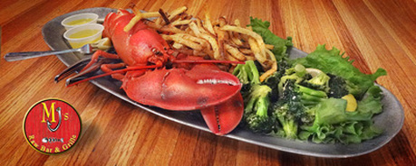 Live Maine Lobster at MJ's Raw Bar, New Bern, Seafood restaurant