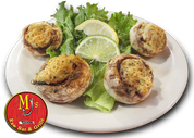 Crab stuffed mushrooms at MJ's Raw Bar, New Bern