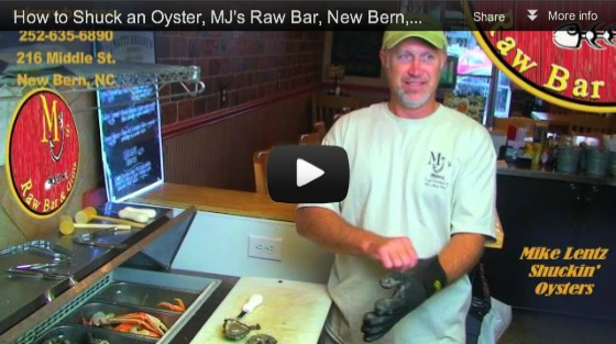 How to Shuck an Oyster, MJ's Raw Bar, New Bern, NC with Mike Lentz